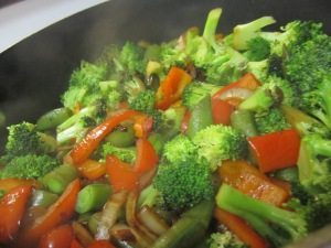 The veggies without egg, since I forgot it.